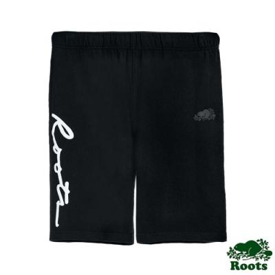 男裝Roots-Script棉質短褲-黑色
