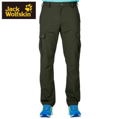 【Jack wolfskin 飛狼】男 Supplex 彈性快乾休閒長褲 多口袋『橄欖綠』