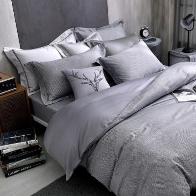 OLIVIA  雷克斯 加大雙人床包枕套三件組 400織高織紗匹馬棉