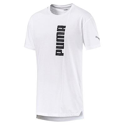 PUMA-男性訓練系列Energy圖樣短袖T恤-白色-歐規