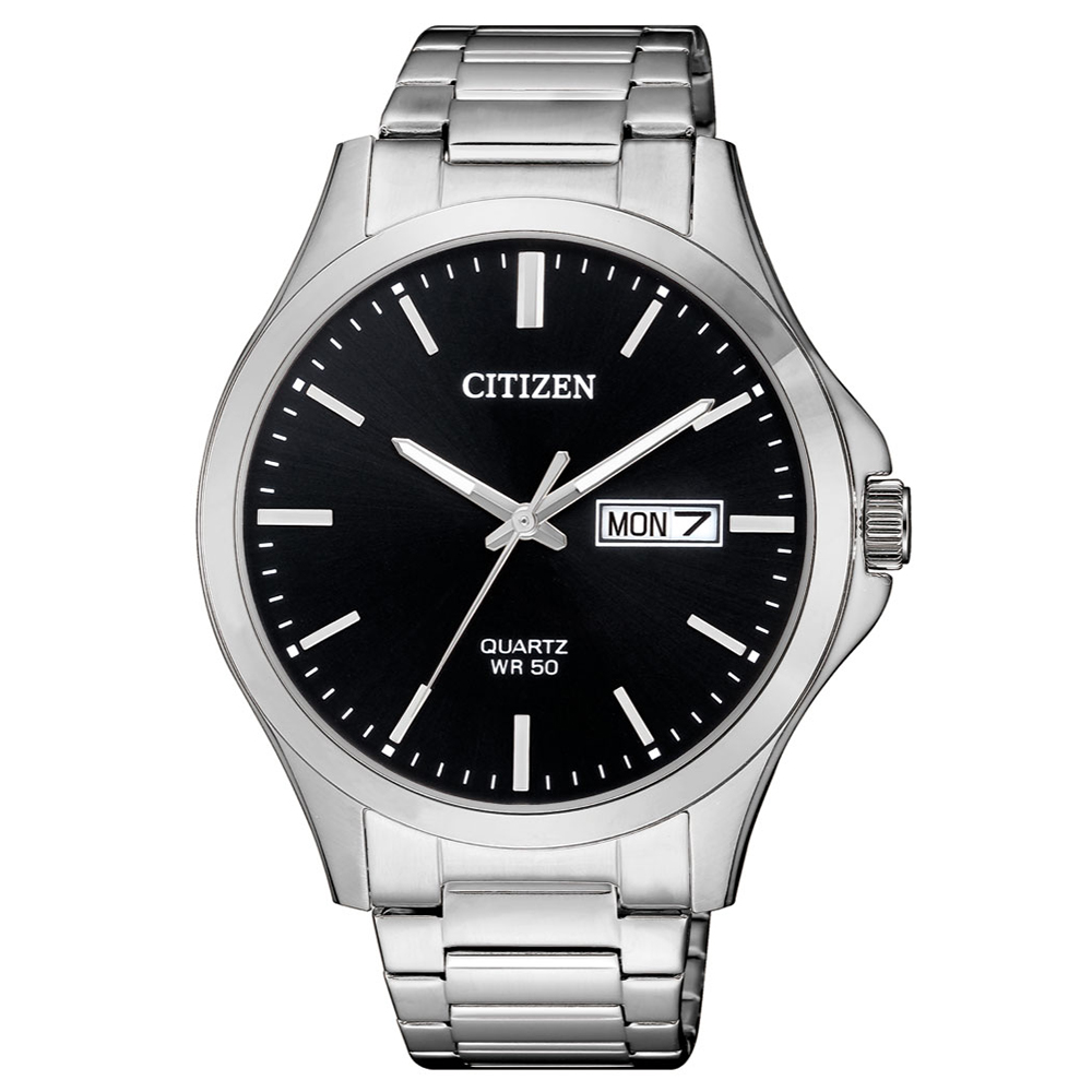 CITIZEN 典藏時光夜光石英腕錶(BF2001-80E)-黑x40mm @ Y!購物