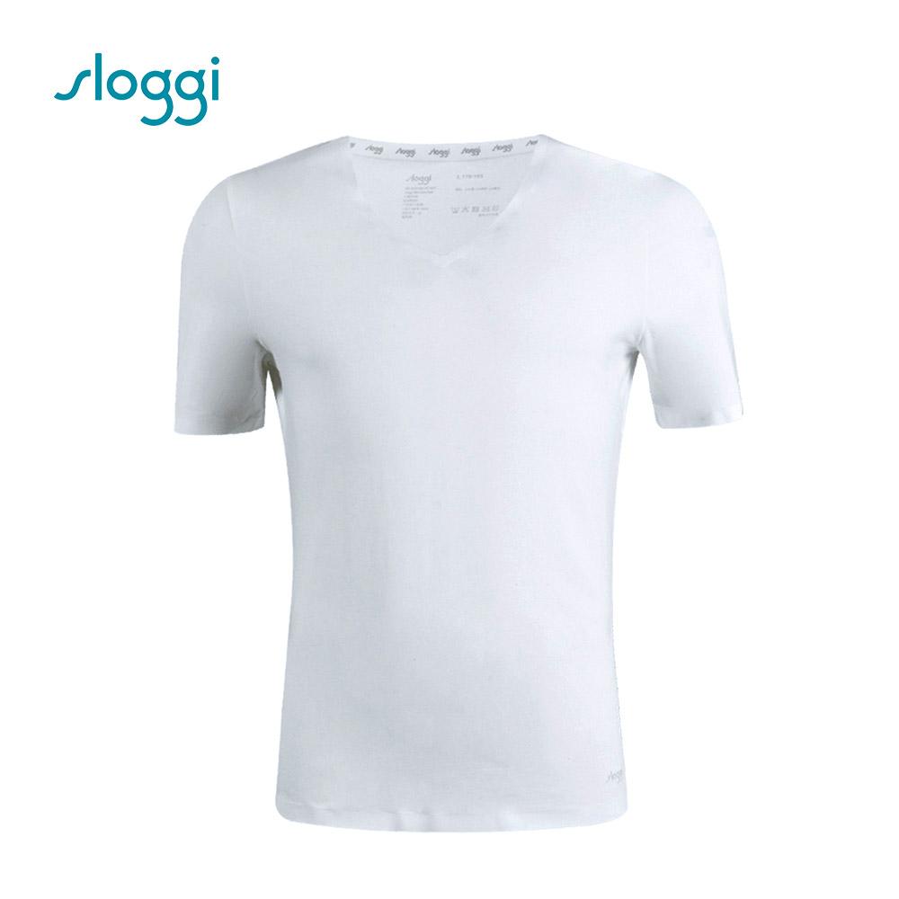 sloggi men ZERO Feel 零感系列短袖內著上衣 純淨白