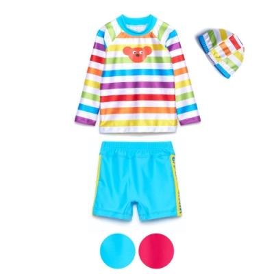 WHY AND 1/2 mini 三件式長袖泳衣組 1Y~4Y 多色可選