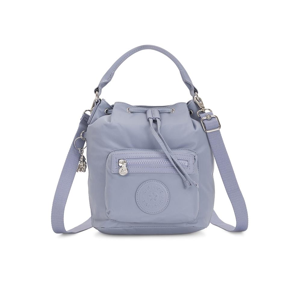 Kipling 自在百搭淡雅藍色都會多用途水桶手提側背包-VIOLET S
