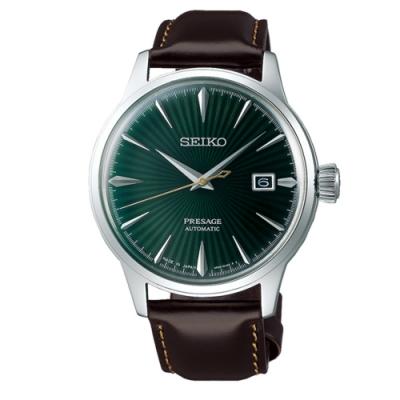SEIKO精工Presage調酒師動力機械錶-綠(4R35-01T0M/SRPD37J1)