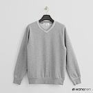 Hang Ten - 男裝 - 有機棉 - V領細針織上衣 - 灰
