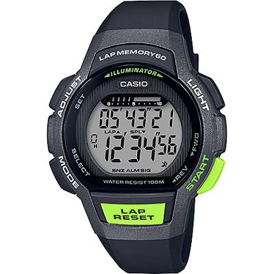 CASIO 運動跑步設計都會風尚數位女錶-灰X黑(LWS-1000H-1A)/21mm
