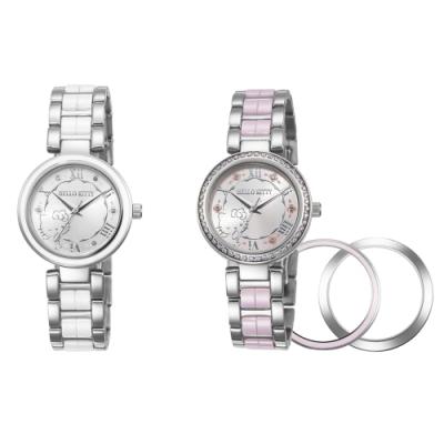 [時時樂限定]HELLO KITTY 凱蒂貓俏麗公主陶瓷手錶-兩色任選