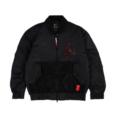 Nike 外套 Kyrie Basketball JKT 男款 飛行外套 厄文 防風 保暖 穿搭 黑 紅 CK6671010