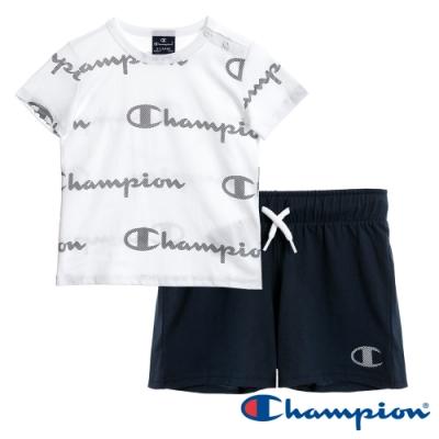 Champion EU小童短袖套裝 白x黑