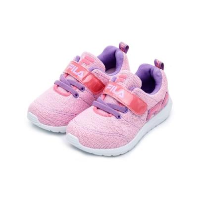 FILA KIDS 中童PVC輕量慢跑鞋-粉紫 2-J424U-599