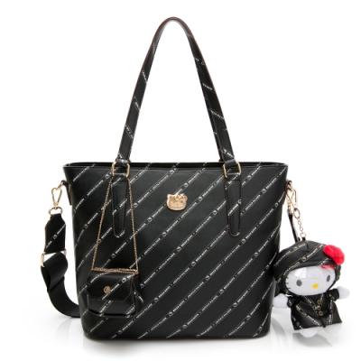 Hello Kitty聯名- 托特包附長背帶 Trendy Master系列-黑色