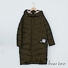 beartwo 金屬太空感連帽羽絨大衣外套(二色)