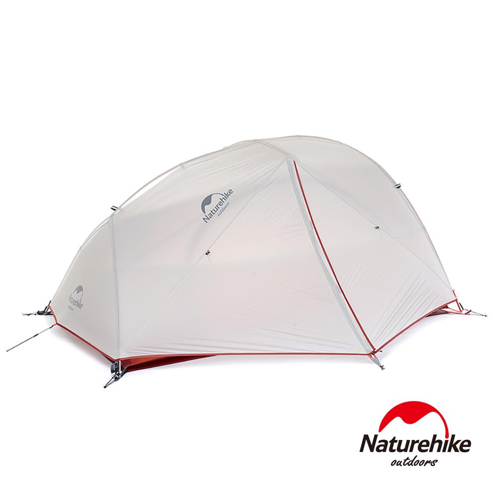 Naturehike 升級版 星河2超輕戶外20D矽膠雙人雙層手動野營帳篷 贈地席 灰-急