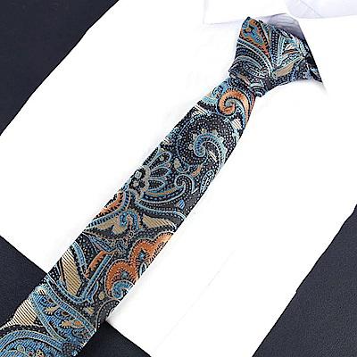 拉福   領帶鋼龍6cm窄領帶拉鍊領帶
