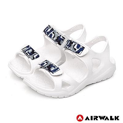 【AIRWALK】減壓緩震輕量休閒涼鞋-童款-白色