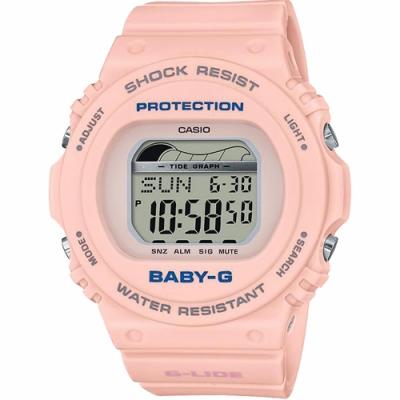 CASIO 卡西歐 Baby-G 衝浪手錶-粉紅(BLX-570-4)