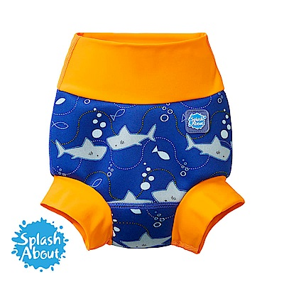 潑寶 Splash About 3D加強版 游泳尿布褲 - 亮橘鯊魚