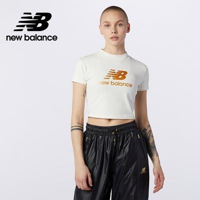 [New Balance]短版短袖T恤_女性_米白色_WT13503SST