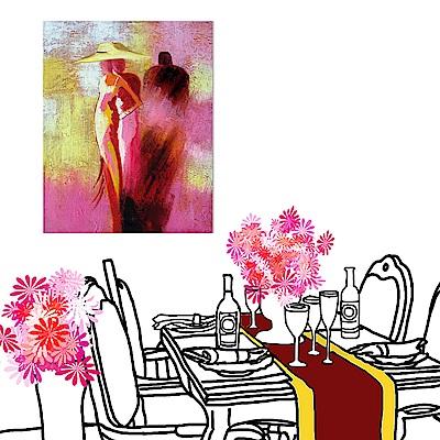 美學365 單聯 時尚無框畫掛畫-粉紅女人 30x40cm