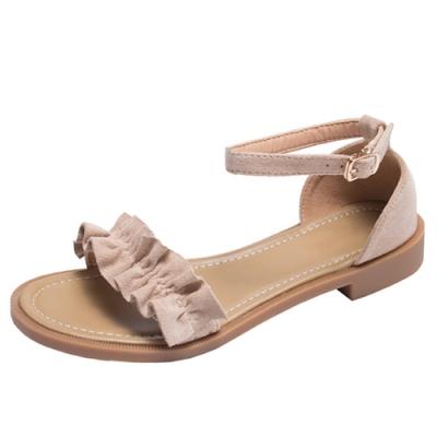 KEITH-WILL時尚鞋館 獨家價甜心花邊美腿涼鞋-粉