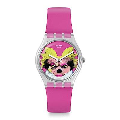 Swatch  Listen to me系列 PINKAPIPPA粉紅吉娃娃