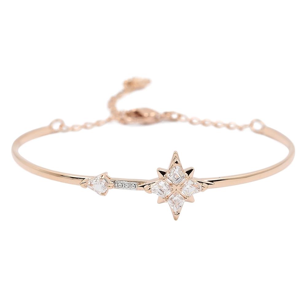SWAROVSKI 施華洛世奇 SYMBOLIC璀璨水晶繁星玫瑰金手環手鍊