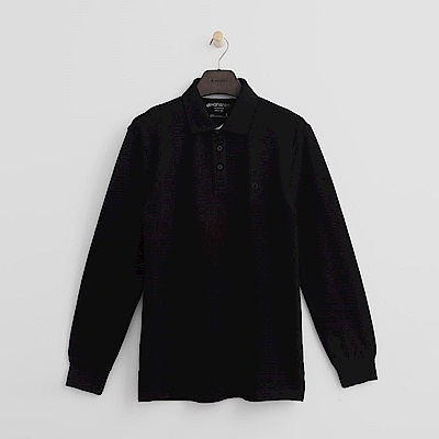 Hang Ten - 男裝 - 經典純色POLO衫-黑色
