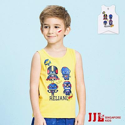 JJLKIDS 可愛機器人造型純棉背心(2色)