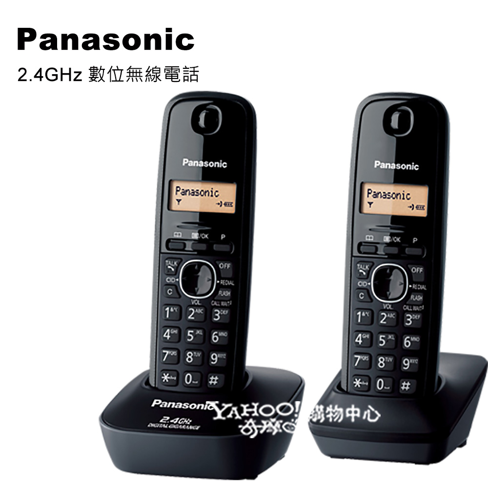 Panasonic 2.4GHz 數位雙手機無線電話KX-TG3412 (經典黑)