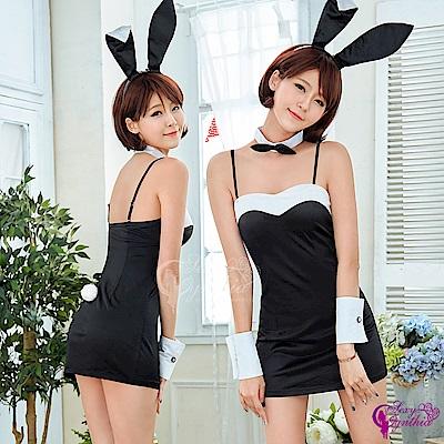 Sexy Cynthia角色扮演 動感甜心兔女郎角色扮演服五件組-黑F
