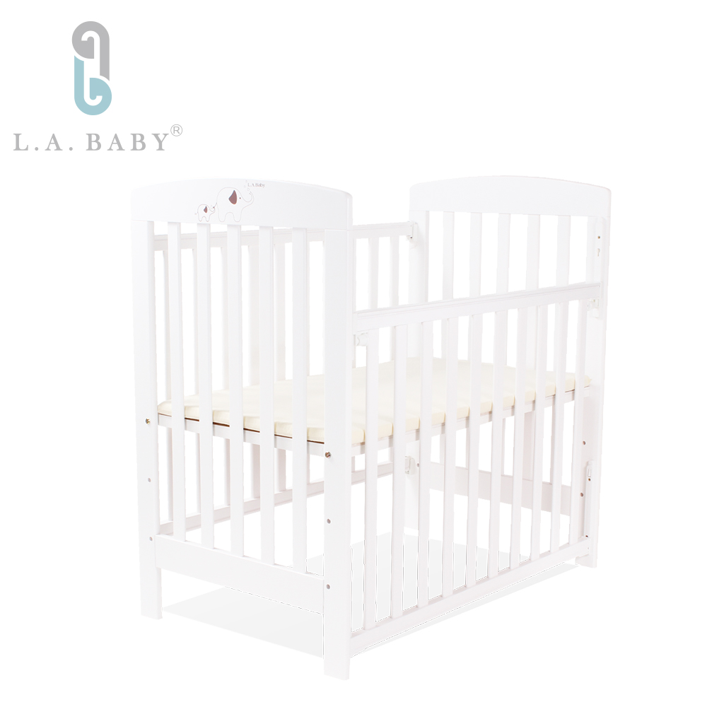 L.A. Baby 佛羅里達嬰兒小床/實木(白色) 適用育嬰 託嬰