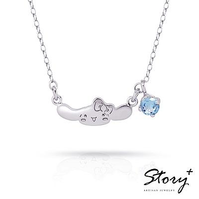 STORY故事銀飾-Puppy s Year-大耳狗與Hello Kitty 誕生石純銀項鍊