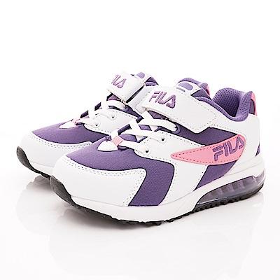 FILA頂級童鞋 氣墊運動鞋款 FO06T-159白紫粉(中大童段)