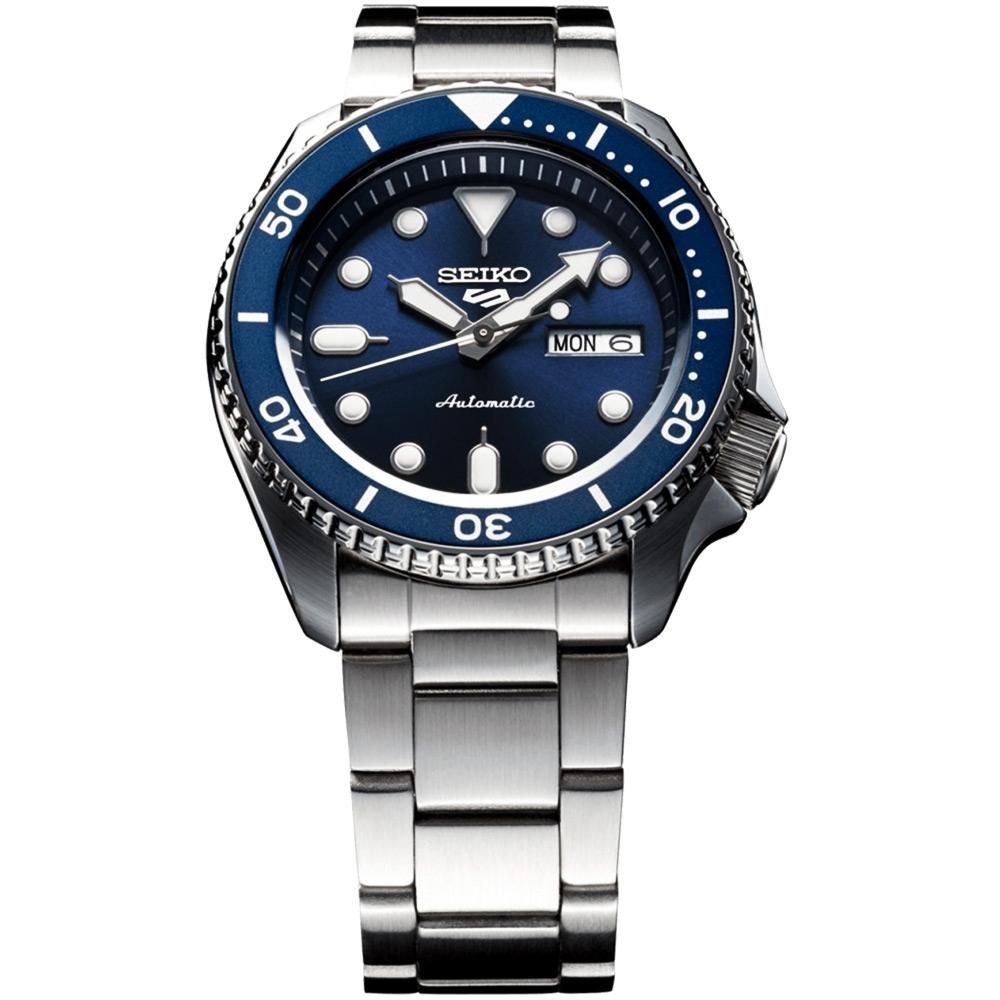 SEIKO 精工 5 Sports 系列機械錶(SRPD51K1)-藍x銀/42.5mm
