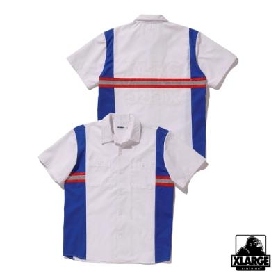 XLARGE S/S WORK SHIRT短袖襯衫-白