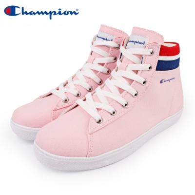 【Champion】CP Cozy HI 休閒帆布鞋 高筒 女鞋-粉(WFLS-9004-50)