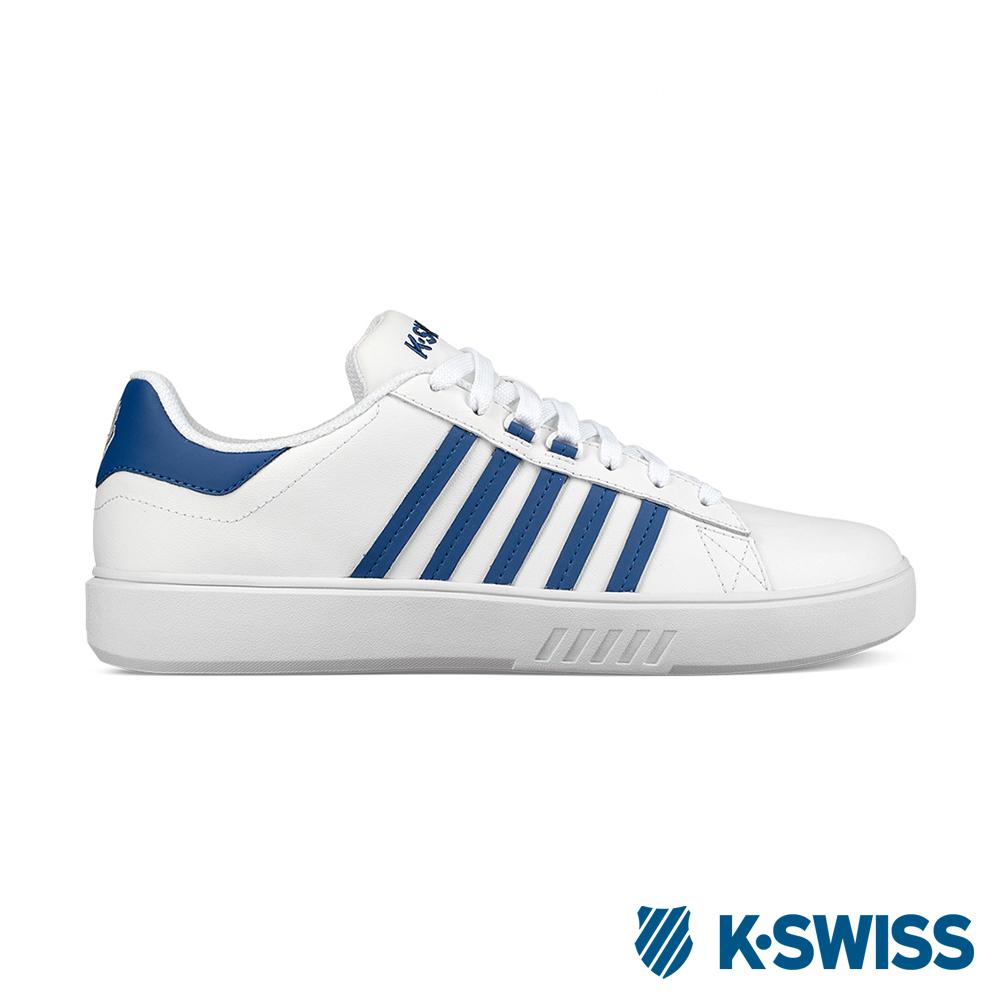 K-SWISS Pershing Court CMF 休閒運動鞋-男-白/藍