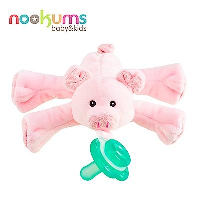 美國 nookums 寶寶可愛造型安撫奶嘴/玩偶-粉紅豬