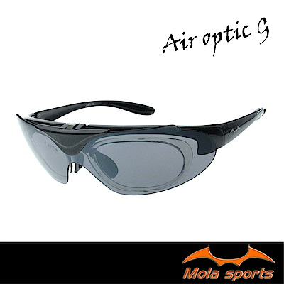 Mola摩拉上掀式運動太陽眼鏡 近視/老花 UV400 小到一般臉型  騎車 高爾夫 跑步