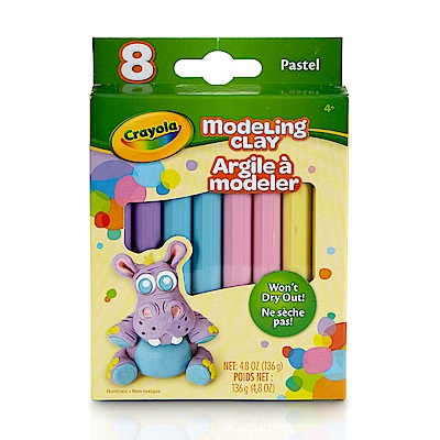美國crayola 繪兒樂 造型黏土粉彩色4色(3Y+)