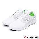 【AIRWALK】迴力追風編織慢跑鞋-白色