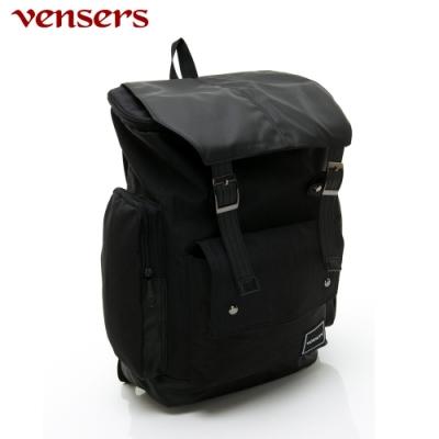 【vensers】簡約尼龍後背包(R180201黑色)