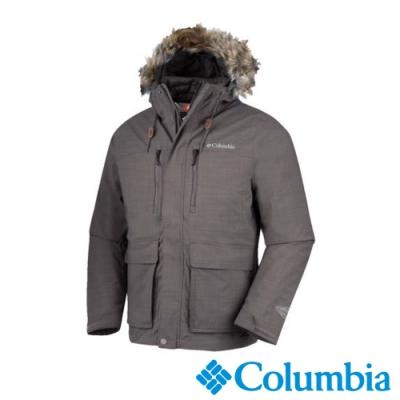 Columbia 哥倫比亞 男款- Omni-TECH防水保暖兩件式羽絨外套-深灰