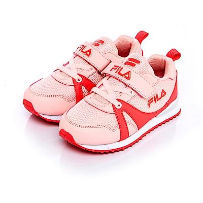 FILA KIDS中童EVA經典慢跑鞋-粉桃 2-J832S-404