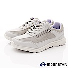 日本Moonstar戶外健走鞋-3E抗菌機能款-ON627銀(女段)