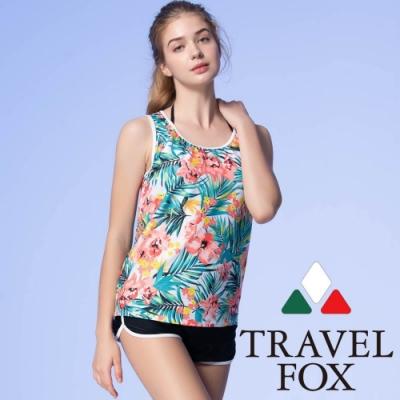 TRAVEL FOX夏之戀 大女長版四件式泳衣