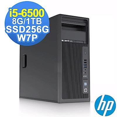 HP Z240 TWR i5-6500/8G/1TB+256G/W7P