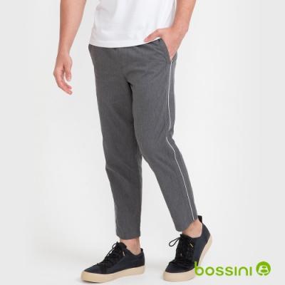 bossini男裝-彈性九分褲03麻灰