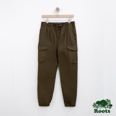 男裝Roots 平織工作長褲-綠